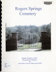 Book - Rogers Springs Cem001
